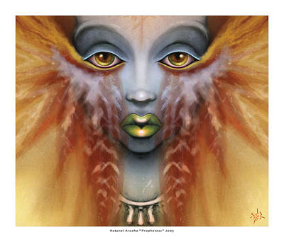 Fractal Geometry Painting - Prophetess by Natanel Araeha