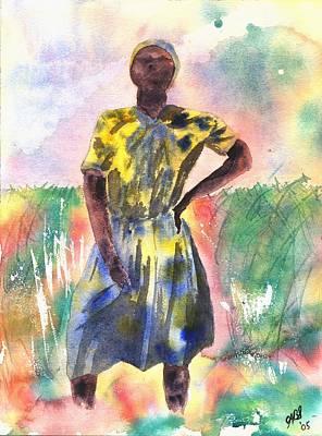 Proud Lady Art Print by Joyce Ann Burton-Sousa