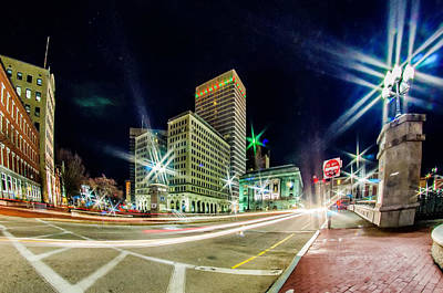 Photograph - providence Rhode Island from the far side of the waterfront by Alex Grichenko