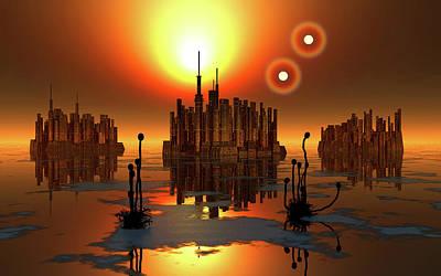 Proxima Centauri Photograph - Proxima B Planet Orbiting The Proxima by Mark Stevenson