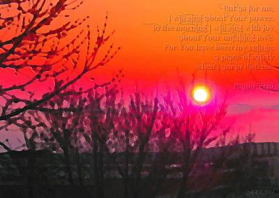 Digital Art - Psalm 59-16 by Christine Nichols