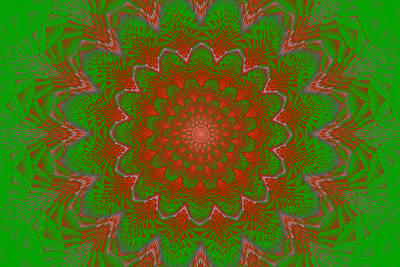 Photograph - Psychedelic Spiral Vortex Green And Red Fractal Flame by Keith Webber Jr
