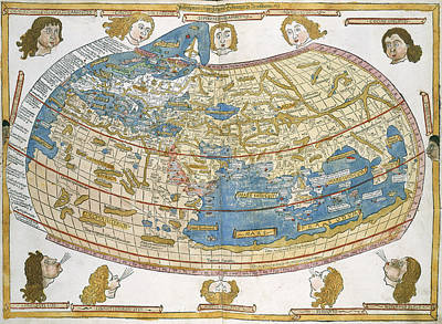 Ptolemic World Map Art Print by British Library