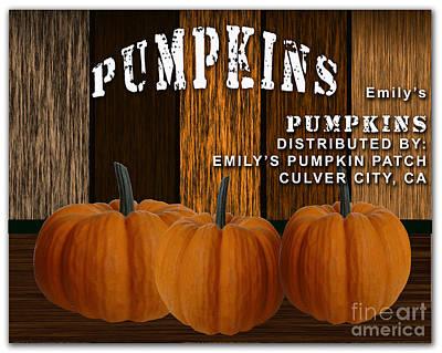 Pumpkin Mixed Media - Pumpkin Patch by Marvin Blaine