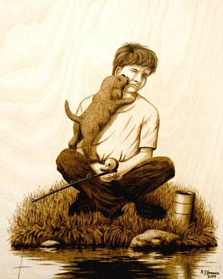Puppy Love Art Print by Roger Jansen