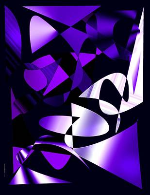 Lilac Digital Art - Purple Abstract Art by Mario Perez