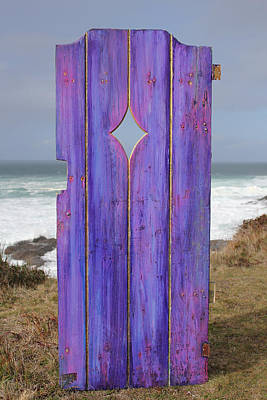 By Asha Photograph - Purple Gateway To The Sea by Asha Carolyn Young