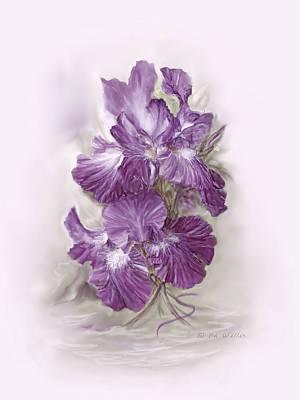 Purple Iris Art Print by Bonnie Willis