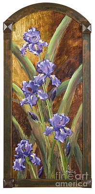 Painting - Purple Iris Series by Vic  Mastis