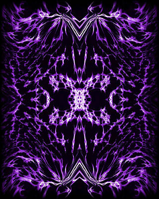 Abstract Digital Painting - Purple Series 2 by J D Owen