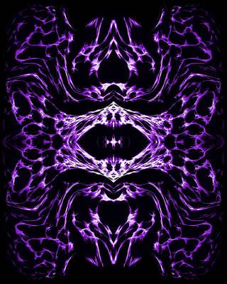 Dynamic Painting - Purple Series 3 by J D Owen