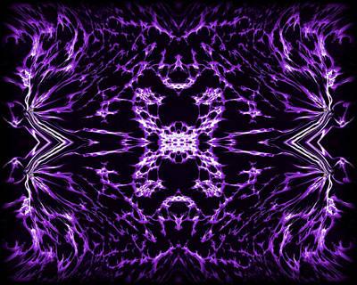 Abstract Series Digital Art - Purple Series 9 by J D Owen