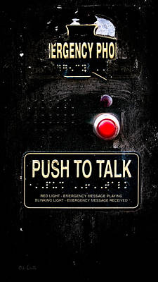 Police Art Photograph - Push To Talk by Bob Orsillo