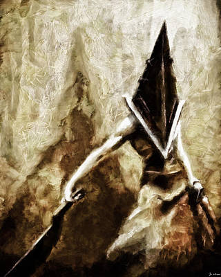 Painting - Pyramid Head by Joe Misrasi