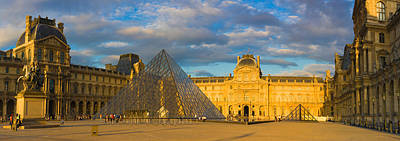 Featured Images Photograph - Pyramid In Front Of A Museum, Louvre by Panoramic Images