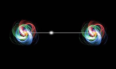 Quantum Theory Photograph - Quantum Entanglement by Victor De Schwanberg