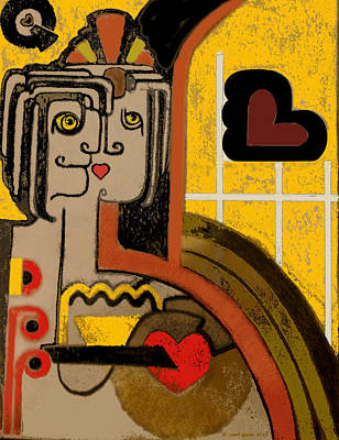 Figurative Digital Art - Queen Of Hearts Of Egypt by Carol Jacobs