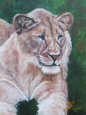 Queen Of The Beast,lioness Art Print