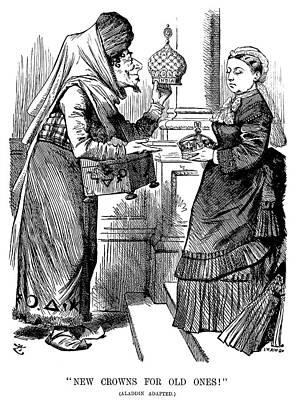 Crown Victoria Painting - Queen Victoria Cartoon by Granger