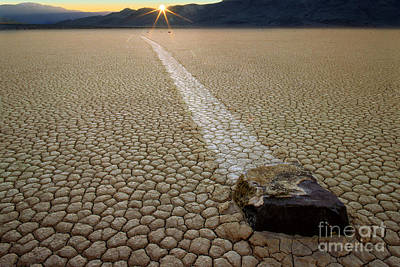 Death Valley Photograph - Racing Rock by Inge Johnsson