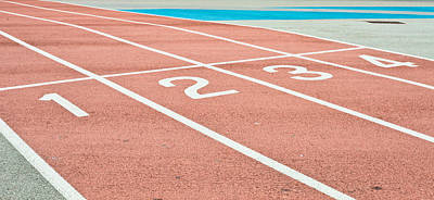 Athletes Royalty-Free and Rights-Managed Images - Racing track by Tom Gowanlock