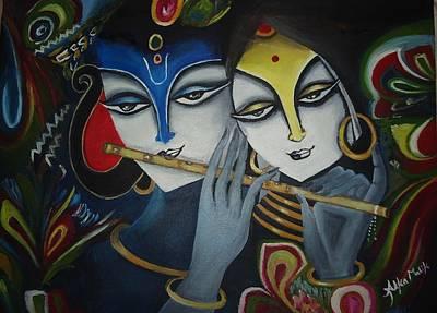 Krishna Painting - Radha Krishna by Alka  Malik
