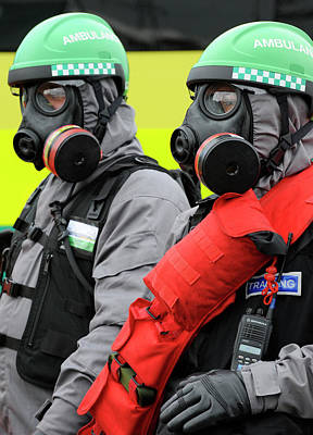 Terrorism Photograph - Radiation Emergency Response Workers by Public Health England