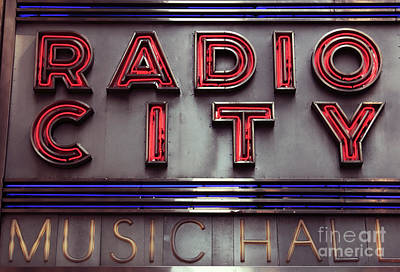 Of Artist Photograph - Radio City by John Rizzuto