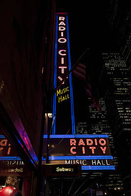 Photograph - Radio City Music Hall by Michael Dorn
