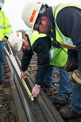 Michigan Port Huron Photograph - Rail Yard Track Maintenance by Jim West