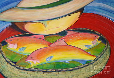 Rainbow Fish Art Print by Teresa Hutto