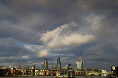 Photograph - Rainbow Over The City Of London by Gary Eason