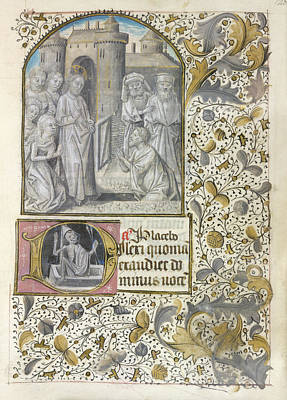 Raising Of Lazarus Art Print by British Library