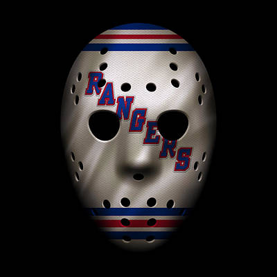 Skating Photograph - Rangers Jersey Mask by Joe Hamilton