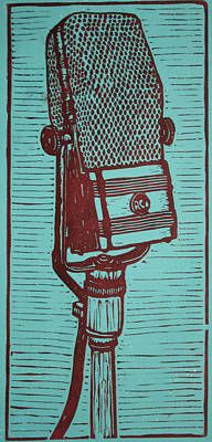 Lino Drawing - Rca 44 by William Cauthern