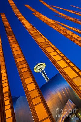 Puget Sound Photograph - Reach For The Sky by Inge Johnsson