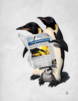 Penguin Drawing - Read All Over Wordless by Rob Snow