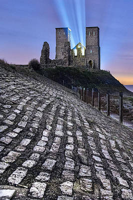 Reculver Photograph - Reculver Towers At Night. by Ian Hufton