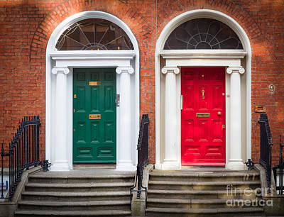 Entryway Photograph - Red And Green by Inge Johnsson