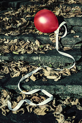 Red Balloon Art Print by Joana Kruse