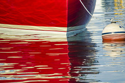 Photograph - Red Boat by Steve Myrick