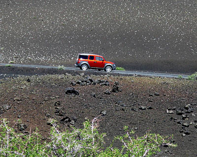 Photograph - Red Car In Craters Of The Moon by Patricia Januszkiewicz