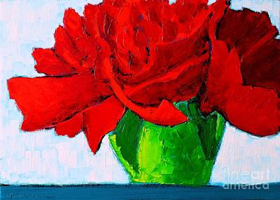Red Carnation Art Print by Ana Maria Edulescu