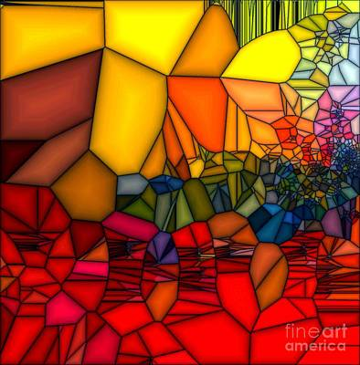 Painting - Red Cracked Glass by Saundra Myles