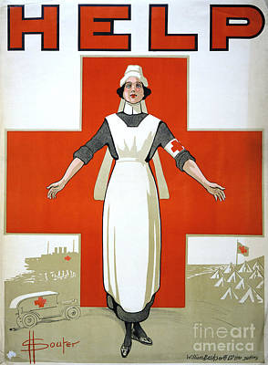 Photograph - Red Cross Poster, C1917 by Granger
