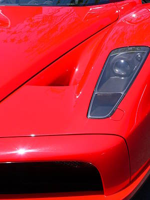 Photograph - Red Ferrari by Jeff Lowe
