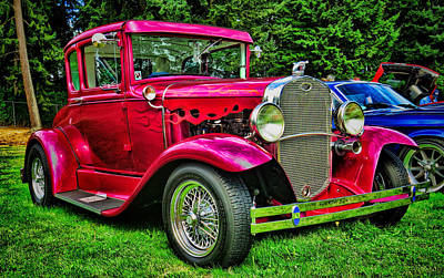 Photograph - Red Ford Coupe by Ron Roberts