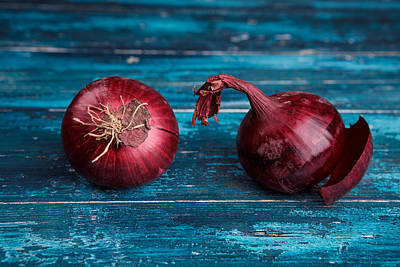Organic Photograph - Red Onions by Nailia Schwarz