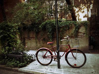 Greenwich Village Digital Art - Red Rambler On Commerce Street by Natasha Marco