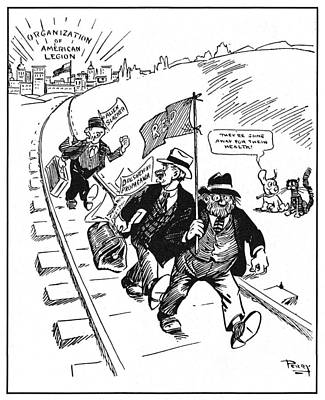 Anti Immigrant Painting - Red Scare Cartoon, 1919 by Granger